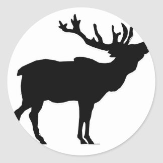 elk shilouette peace joy calm stickers