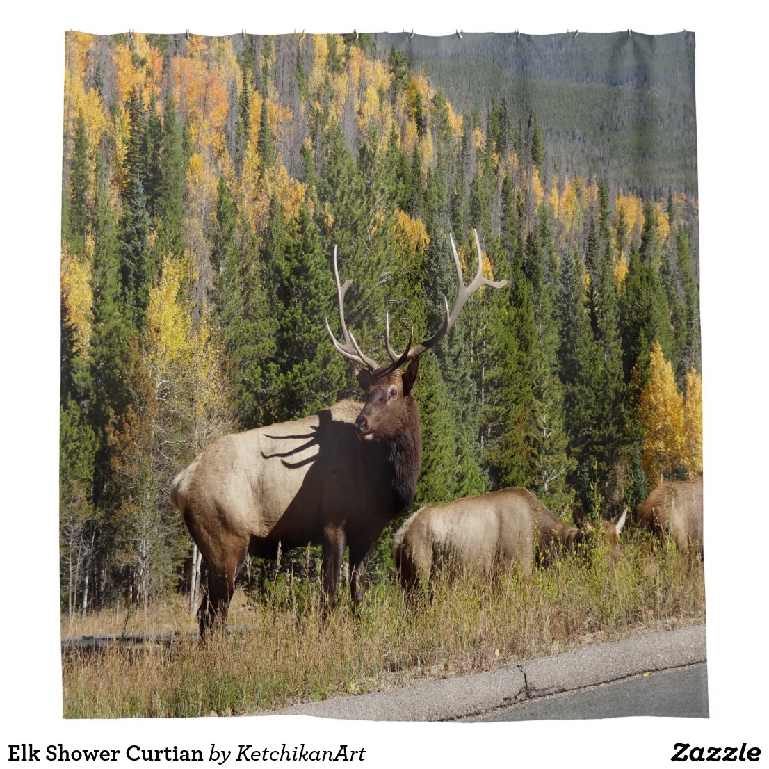 Elk Shower Curtian Shower Curtain