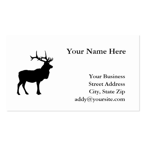 Elk Silhouette Business Card Template