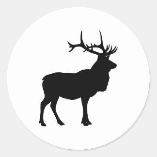 Elk Silhouette Classic Round Sticker
