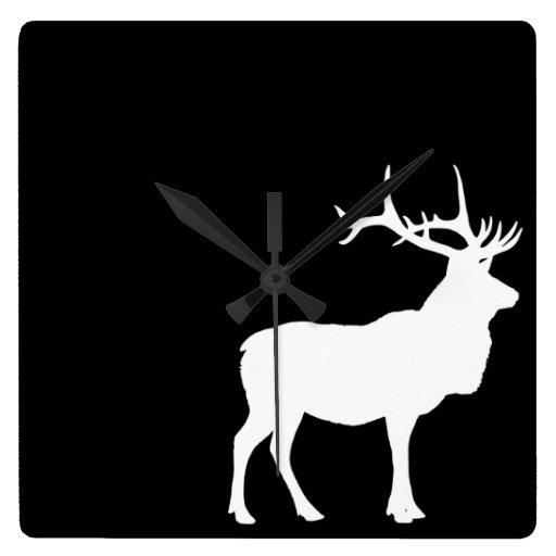 Elk Silhouette Clock