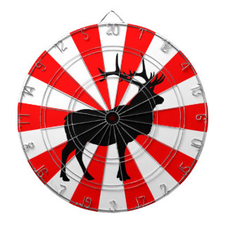 Elk Silhouette Dartboard With Darts
