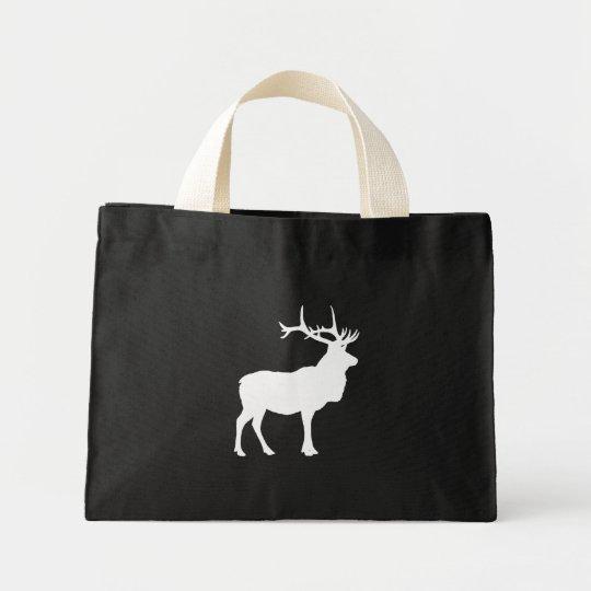 Elk Silhouette Mini Tote Bag