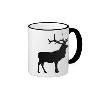 Elk Silhouette Ringer Coffee Mug