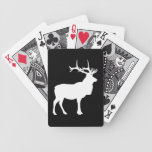 Elk Silhouette Playing Cards