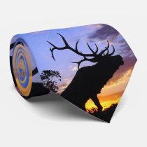 Elk silhouette Tie