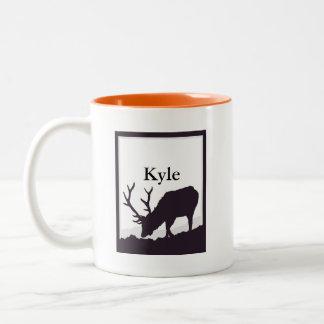 Elk Silhouette Two-Tone Coffee Mug