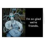 Elk Skeleton Friend Card