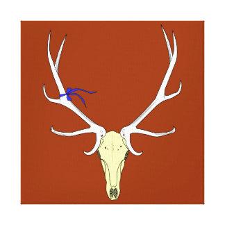 Elk Skull Illustration Canvas Print