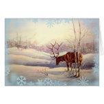 ELK & SNOWFLAKES by SHARON SHARPE Card