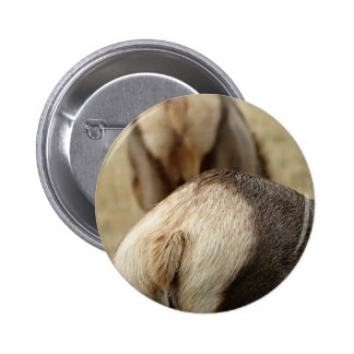 Elk Tail and fur 2 Inch Round Button