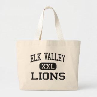 Elk Valley - Lions - High School - Longton Kansas Jumbo Tote Bag