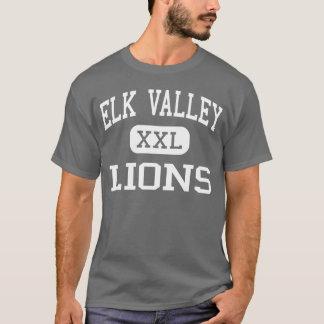 Elk Valley - Lions - High School - Longton Kansas T-Shirt