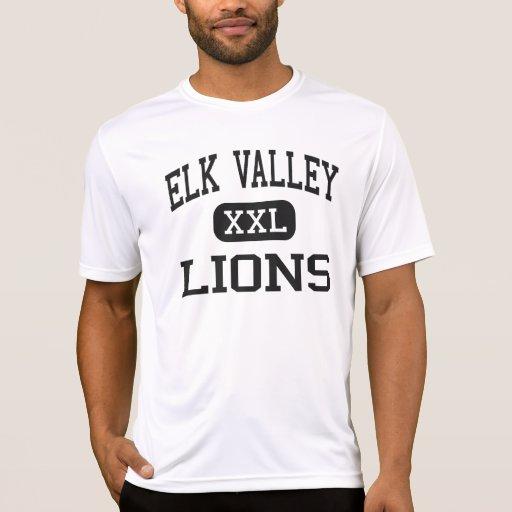 Elk Valley - Lions - High School - Longton Kansas Tee Shirts