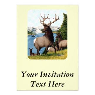 Elk Wapiti Custom Invitations