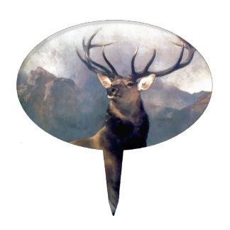 Elk wild animal painting cake topper