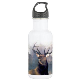 Elk wild animal painting water bottle