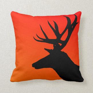 Elk Wild Animal Silhouette Design Pillow