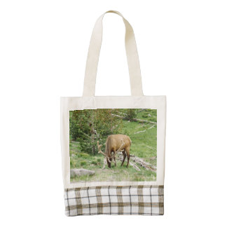 Elk With Velvet Antlers Yellowstone Zazzle HEART Tote Bag