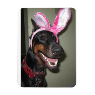Elka Bunny Rectangular Photo Magnet