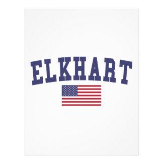 Elkhart US Flag Letterhead