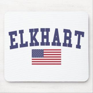 Elkhart US Flag Mouse Pad