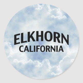 Elkhorn California Classic Round Sticker