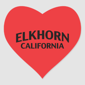 Elkhorn California Heart Sticker