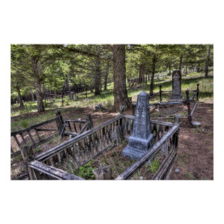 Elkhorn Ghost Town Cemetery - Montana Poster