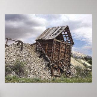 Elkhorn Ghost Town Mine Chute Terminus - Montana Print