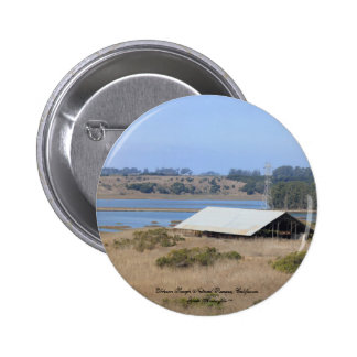 Elkhorn Slough Natural Reserve Panoramic Pinback Button