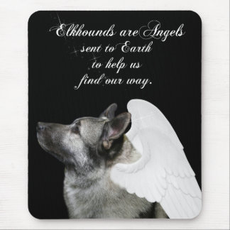 Elkhound Angel Mouse Pad