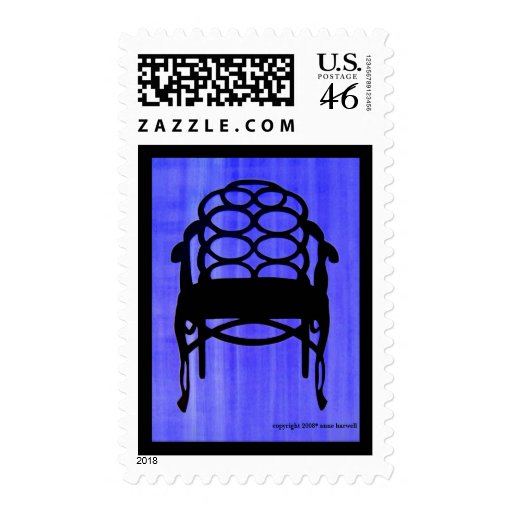 Elkins Chair Silhouette Stamp -