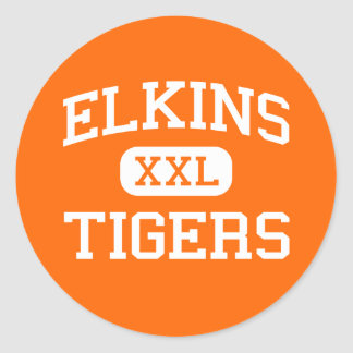 Elkins - Tigers - High - Elkins West Virginia Classic Round Sticker