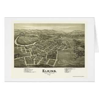 Elkins, WV Panoramic Map - 1897 Card
