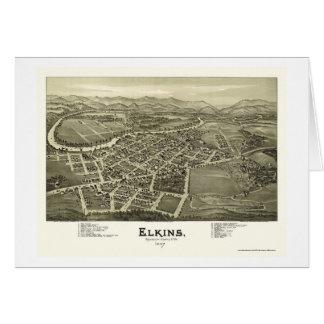 Elkins, WV Panoramic Map - 1897 Cards