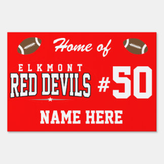 Elkmont High School; Red Devils Lawn Sign