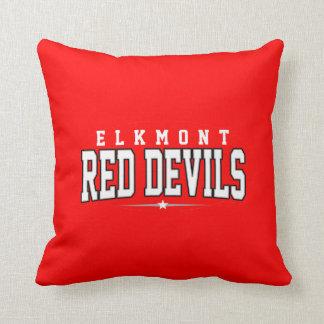 Elkmont High School; Red Devils Throw Pillow