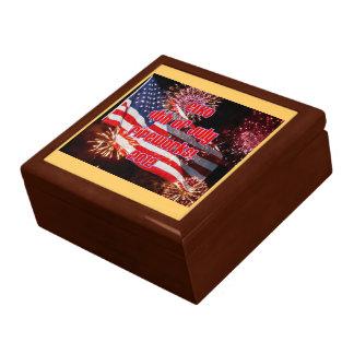 Elko 4th of July Flag Giftbox Jewelry Box