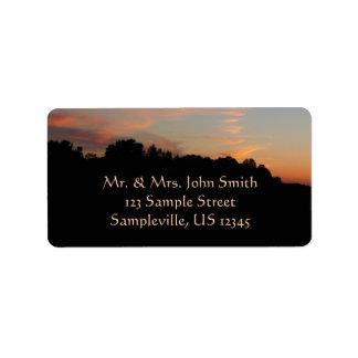 Elkridge Sunset Address Label