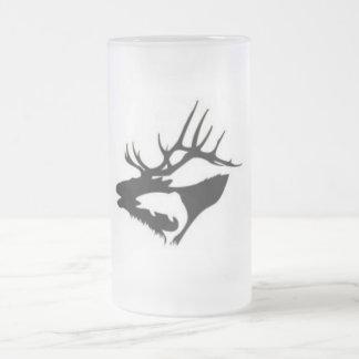 Elk's Lodge Frosted Glass Beer Mug