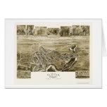 Elkton, mapa panorámico del MD - 1907 Tarjeta De Felicitación