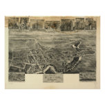 Elkton Maryland 1907 Antique Panoramic Map Posters