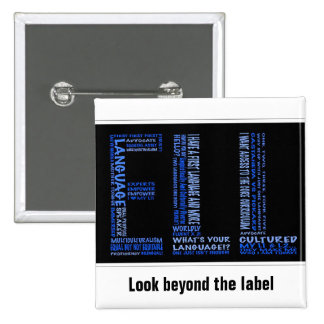 ELL: Look Beyond the Label 2 Inch Square Button