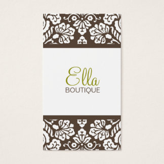 Ella #4 Brown Damask Chic Business Card