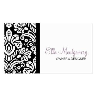 Ella Black Damask Business Card Special Listing