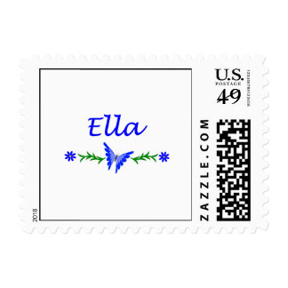 Ella (Blue Butterfly) Postage Stamps