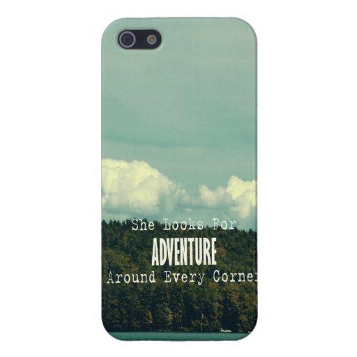 Ella busca el caso del iPhone 5 de la aventura iPhone 5 Carcasas