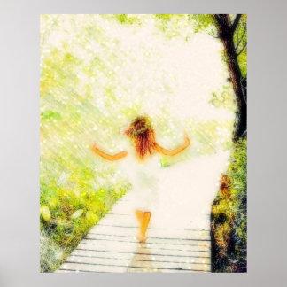Ella camina en luz poster