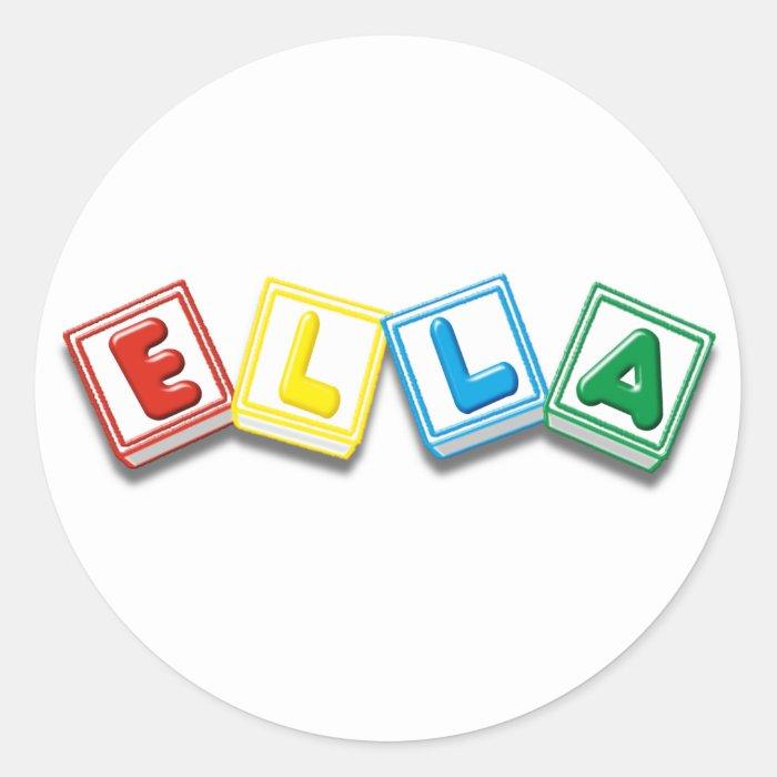 Ella Classic Round Sticker